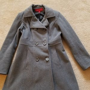 Anne klein. Charcoal gray  knee length wool coat